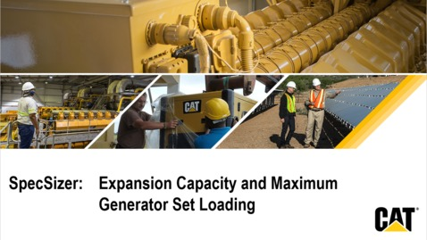 Thumbnail for entry Expansion Capacity and Max. Generator Set Loading