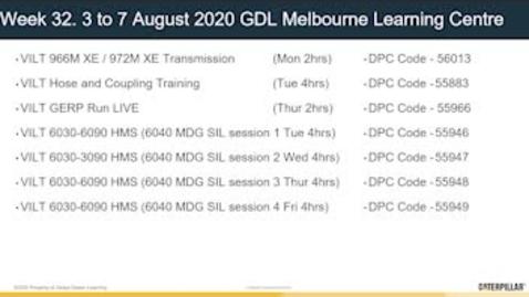 Thumbnail for entry Upcoming VILT training from GDL Melbourne Learning Center