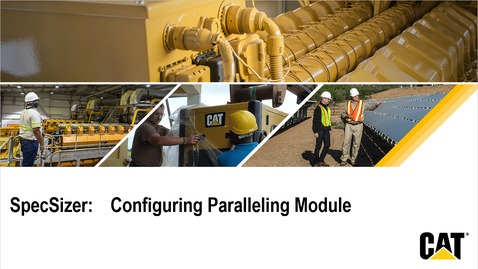 Thumbnail for entry SpecSizer - Paralleling Module Overview