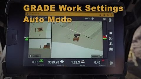 Thumbnail for entry Cat® Next Gen Dozer GRADE Monitor: Work Settings & Auto Mode