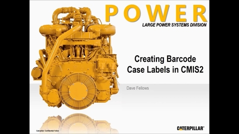 Create Barcode Case Labels in CMIS2