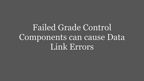 Thumbnail for entry Grade Control CAN Data Link Troubleshooting