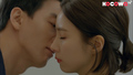 Moon Su Ho kissed Jung Hae Ra on the cheek.