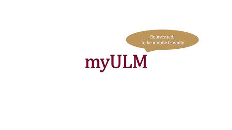 Thumbnail for entry Presenting the new myULM