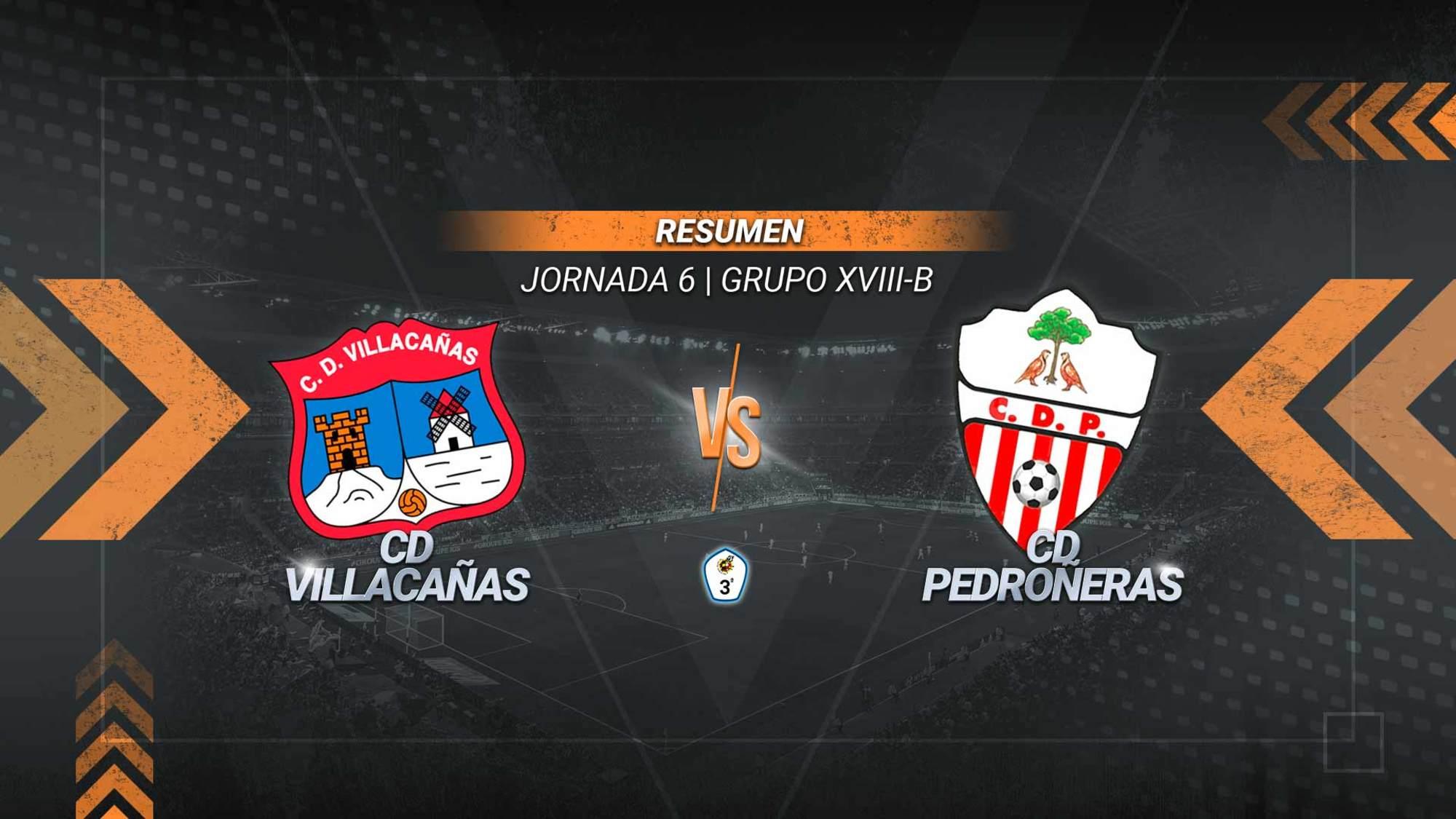 El Villacañas se impone al Pedroñeras y logra el primer triunfo de la temporada. Los goles de Raúl Godoy y Álex González sirven a los villacañeros para estrenarse en Las Pirámides y alcanzar los cinco puntos.