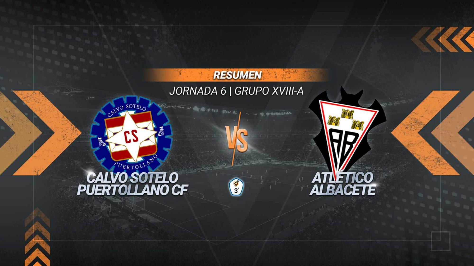 Un gol de Iván Limón da al Calvo Sotelo la segunda victoria de la temporada. Los industriales alcanzan los ocho puntos ante un filial albaceteño que cosecha la segunda derrota seguida, aunque continúa con nueve puntos.