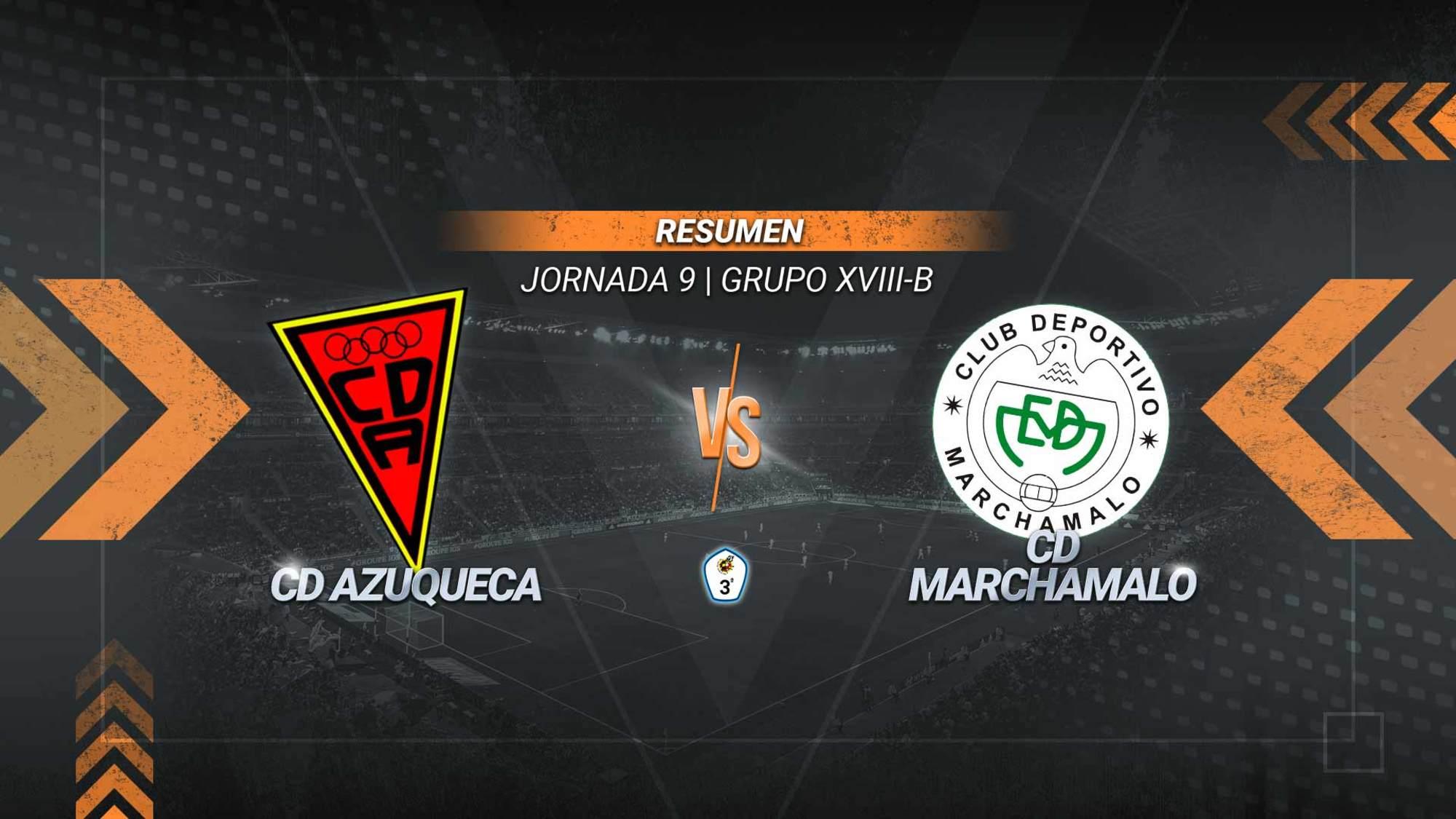 El Marchamalo asalta Azuqueca y logra su cuarta victoria seguida. Los goles de Víctor Illana y Carlos Fernández aúpan a los gallardos hasta los dieciséis puntos. Los azudenses, en los que anotó Chan, se mantienen en la parte baja con siete.