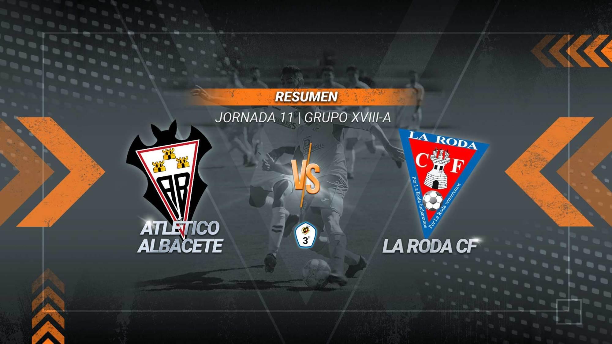 Un gol de Toni Cuenca en la segunda parte devuelve el liderato al filial albaceteño. La Roda, que jugaba su primer partido de 2021, se queda en el tercer puesto de la clasificación.