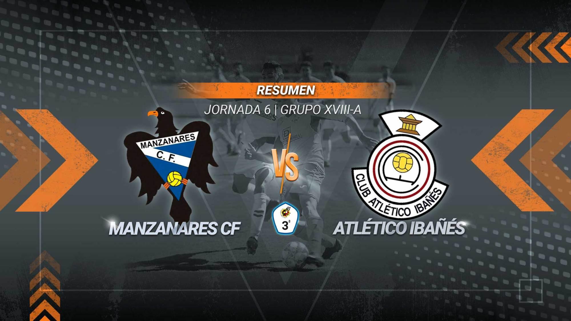 Primera victoria de la temporada para un Atlético Ibañés que se impuso a domicilio al Manzanares con dos goles de Marcos y uno de Joaquín.