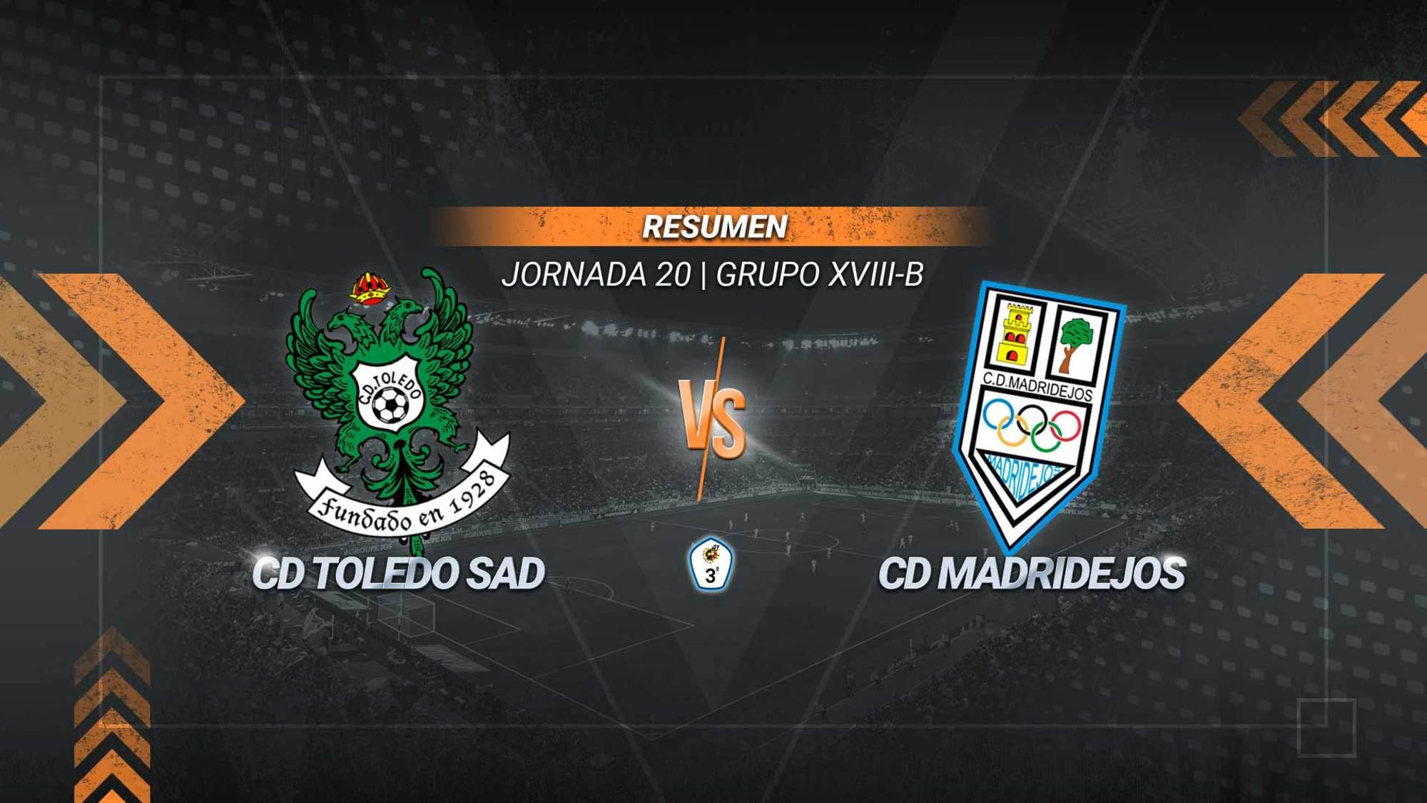 El Toledo se gusta y se afianza en la tercera plaza. Un doblete de Pituli y los goles de Rubén Moreno y Mansour sirven a los de Diego Merino para alcanzar los 30 puntos y continuar en los puestos que dan acceso al grupo de ascenso. El Madridejos continúa penúltimo con 14.