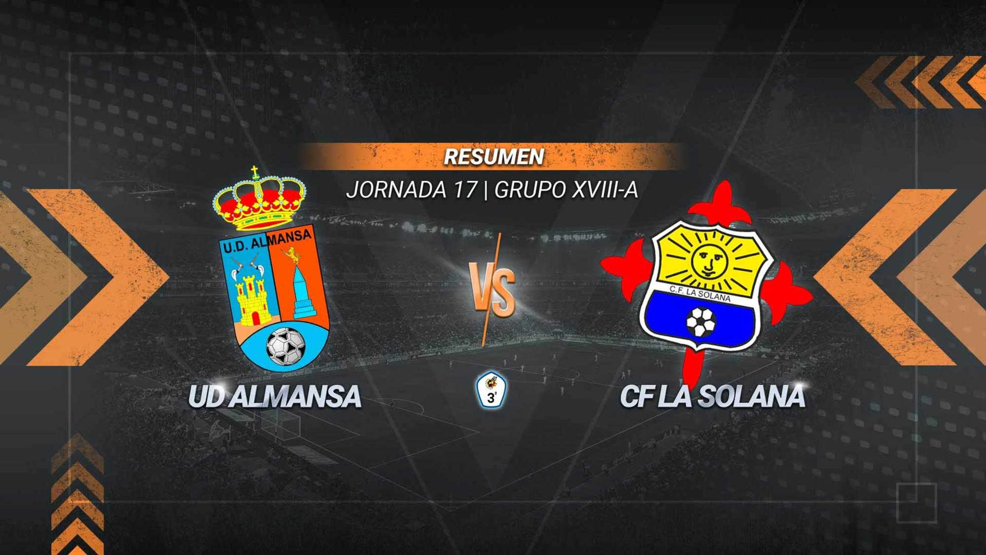 Enrique y Víctor Martí le dan tres puntos fundamentales al Almansa. Los almanseños alcanzan los 15 puntos. La Solana se queda penúltimo con 12.