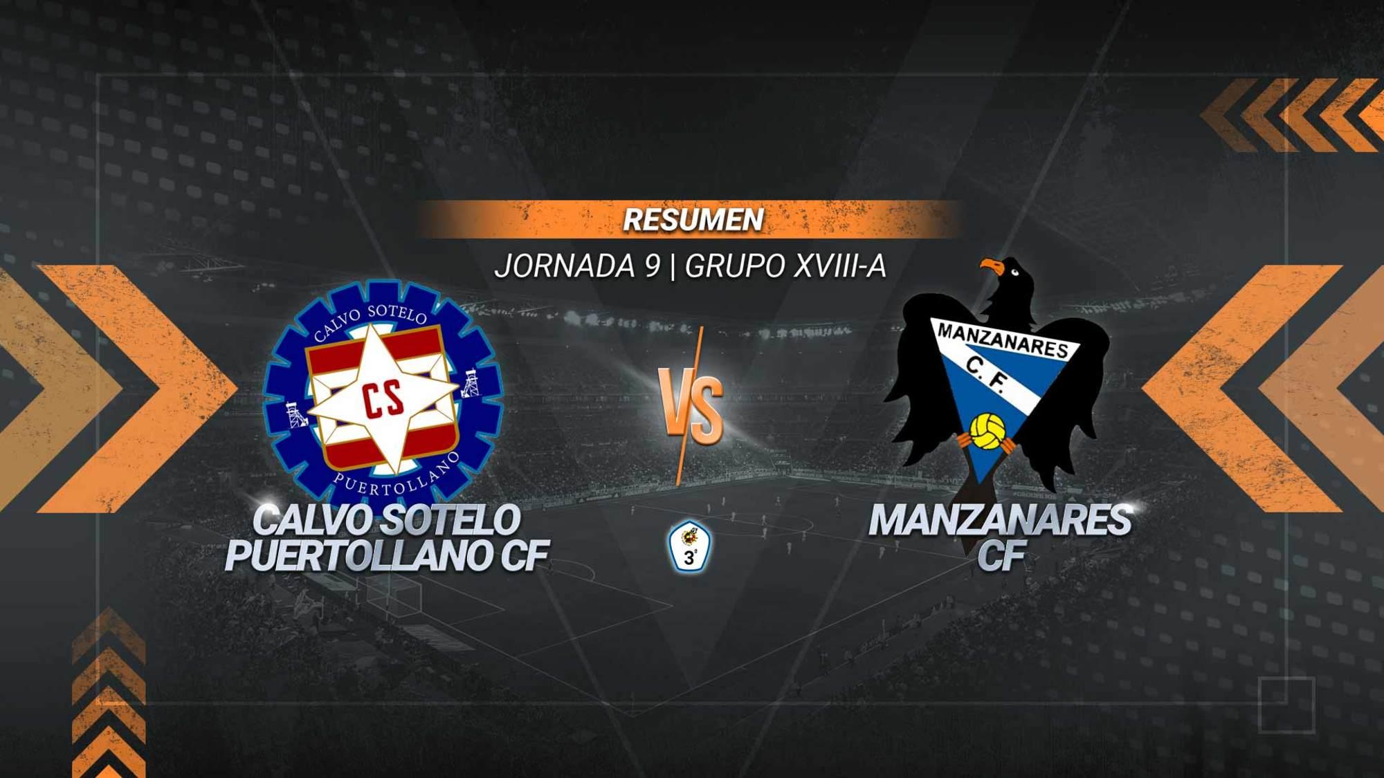 El Manzanares conquista El Cerrú y suma el segundo triunfo consecutivo. Un gol de Kamara en el 88' permite a los manzanareños alcanzar los siete puntos. El Calvo Sotelo, en el que anotó Valdivia, se queda con ocho.