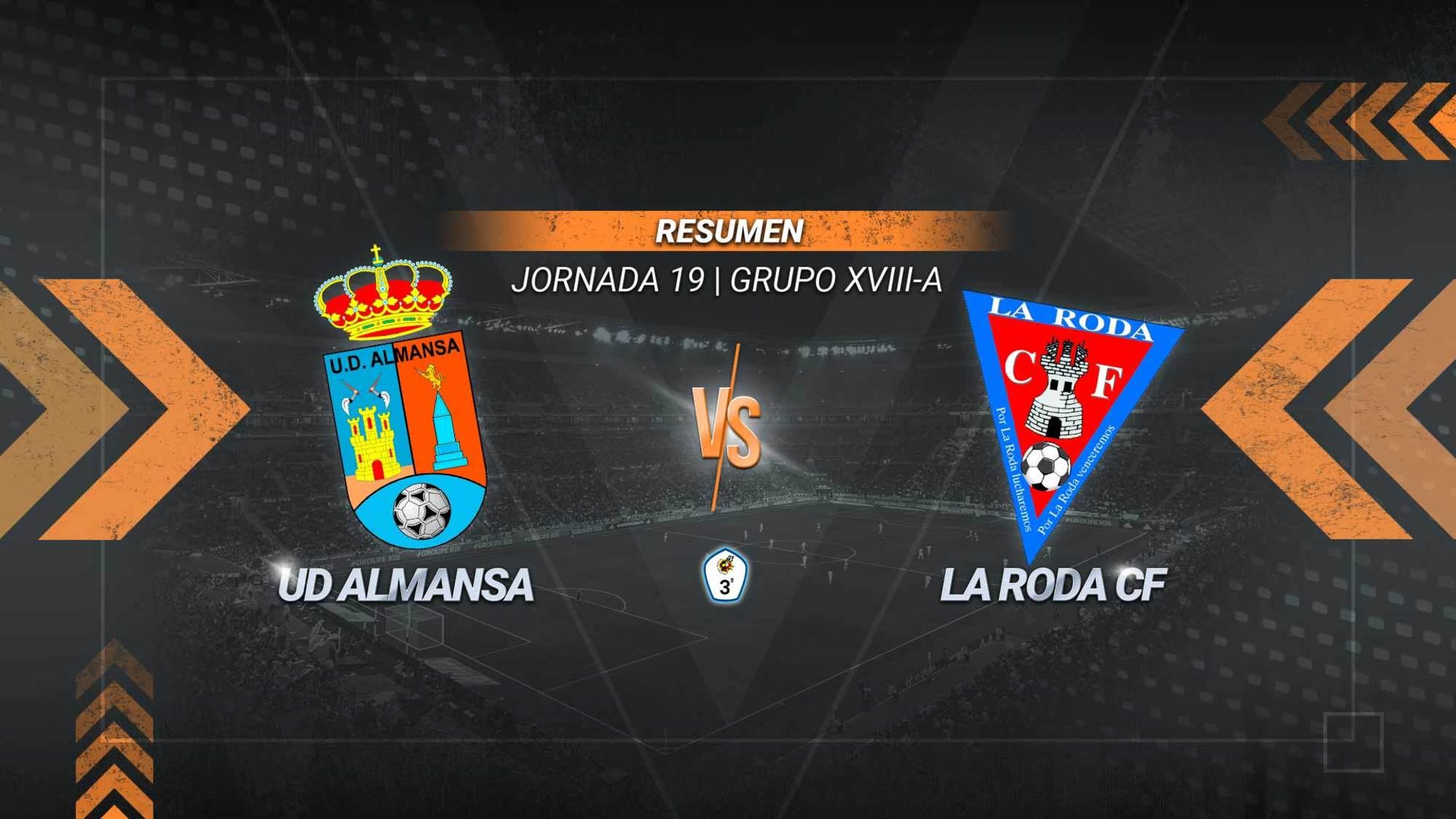 Cristian y Óscar Cuesta le dan la victoria al Almansa en el Paco Simón. La Roda, en caída libre, acumula cinco derrotas y un empate en las seis últimas jornadas.