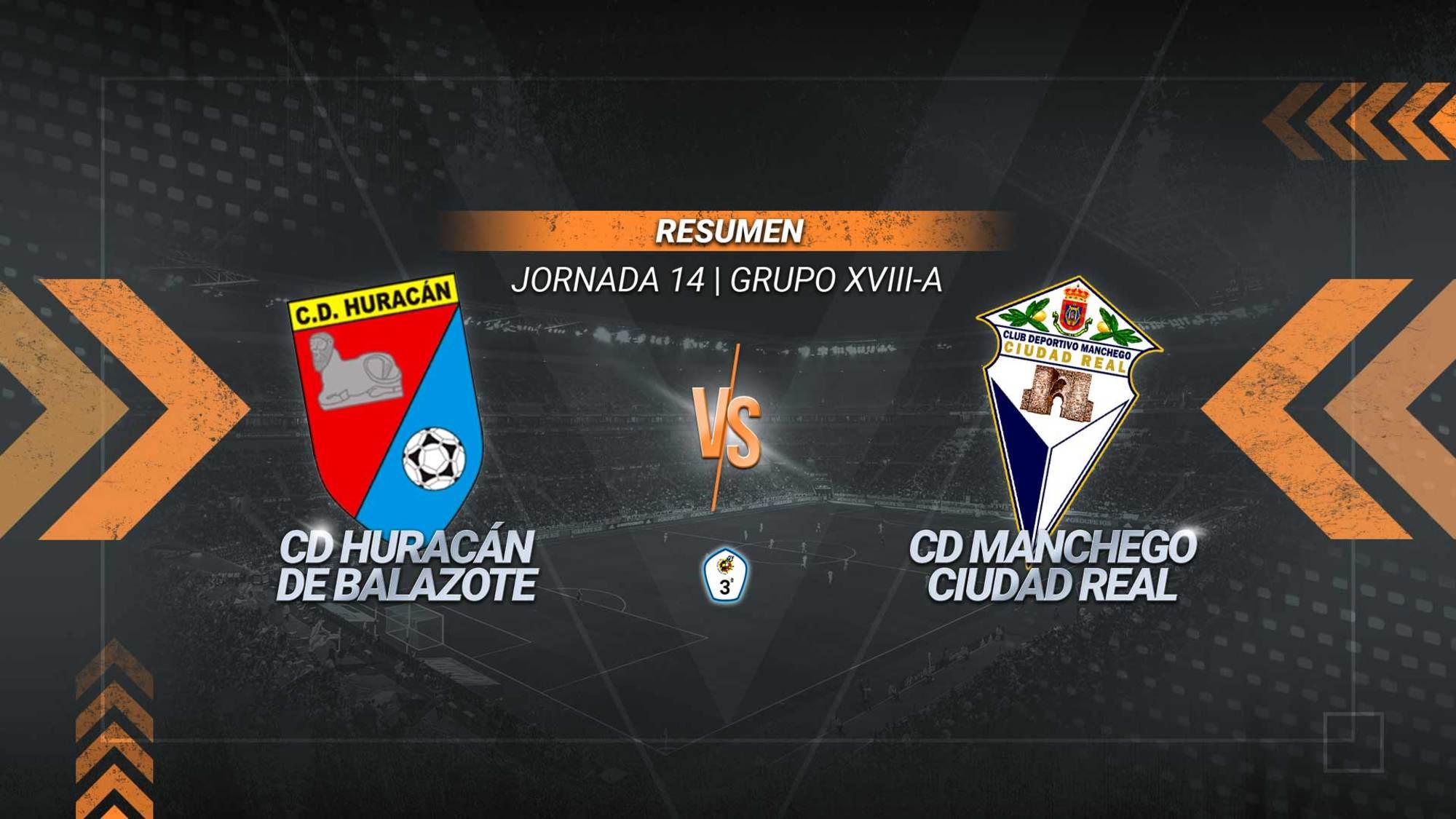 Gustavo y Castro remontan el tanto inicial del Huracán y aúpan al Manchego al liderato del grupo. Los de Balazote se quedan sextos con 15 puntos.