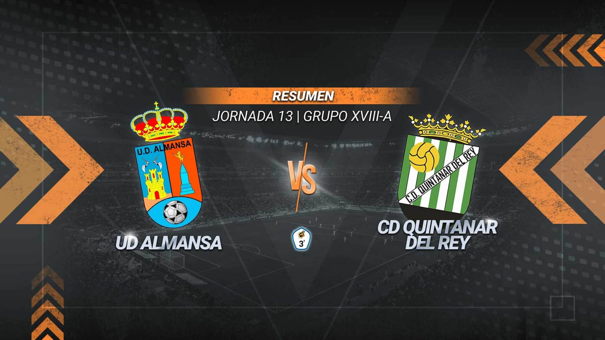 Almansa y Quintanar se reparten los puntos tras dos minutos locos. Marcos Bautista adelantó a los almanseños con un gran gol en el 74' y Eloy empató en el 76' para los visitantes.