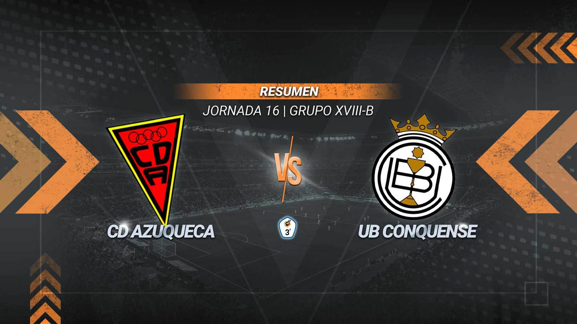 Diego Abad resuelve el partido en el San Miguel con un doblete que deja al Azuqueca como quinto clasificado. El Conquense rompe su buena dinámica después de dos triunfos consecutivos.