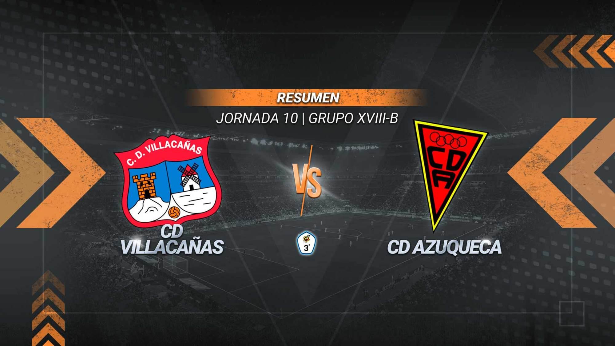 Un gol de Pisón en la recta final sirve al Villacañas para sumar el cuarto triunfo consecutivo. El conjunto villacañero alcanza los 14 puntos y es quinto provisional. El Azuqueca se queda en la zona baja con siete.