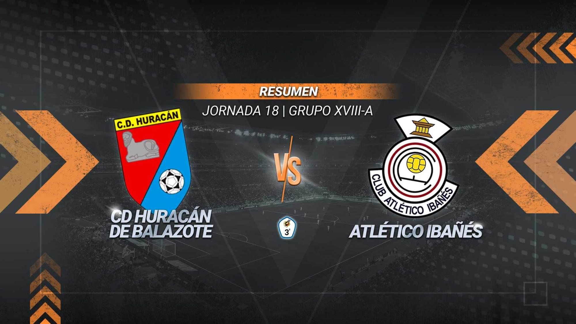 Huracán y Atlético Ibañés se reparten los puntos.Los de Balazote son sextos con 22. Los de Casas Ibáñez, séptimos con 17.