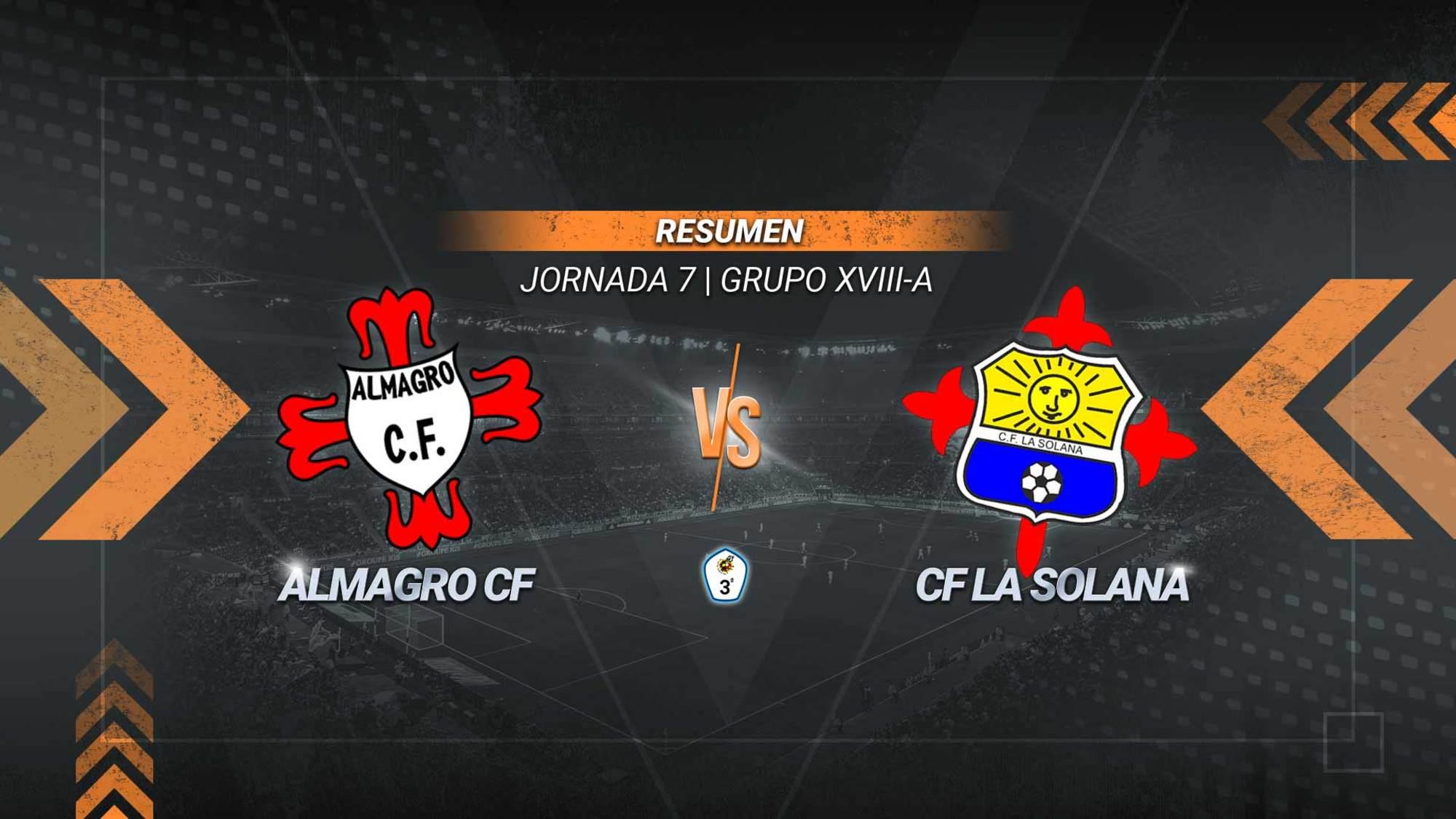 El Almagro remonta en la recta final y suma su segunda victoria consecutiva en el Manuel Trujillo. Los goles de Samy y Javi Heranz le dieron vuelta al inicial de La Solana anotado por Meshack.