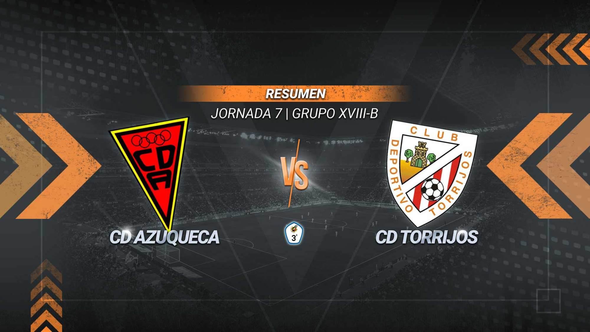 Azuqueca y Torrijos se reparten los puntos y los penaltis anotados. Se adelantaron los visitantes con un gol de Angelito desde los once metros y empataron los azudenses, también de pena máxima, con un tanto de Diego.