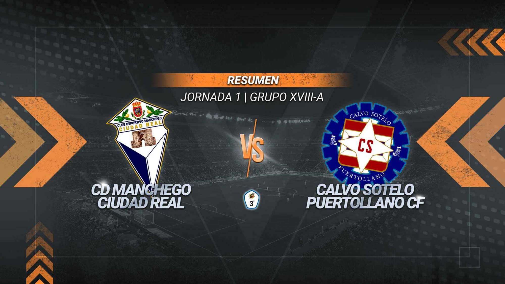 Manchego y Calvo Sotelo empatan en el derbi provincial. Los industriales se adelantaron al inicio gracias a un gol de Iván Limón, pero los mancheguistas igualaron en la primera parte con el tanto de Castro.