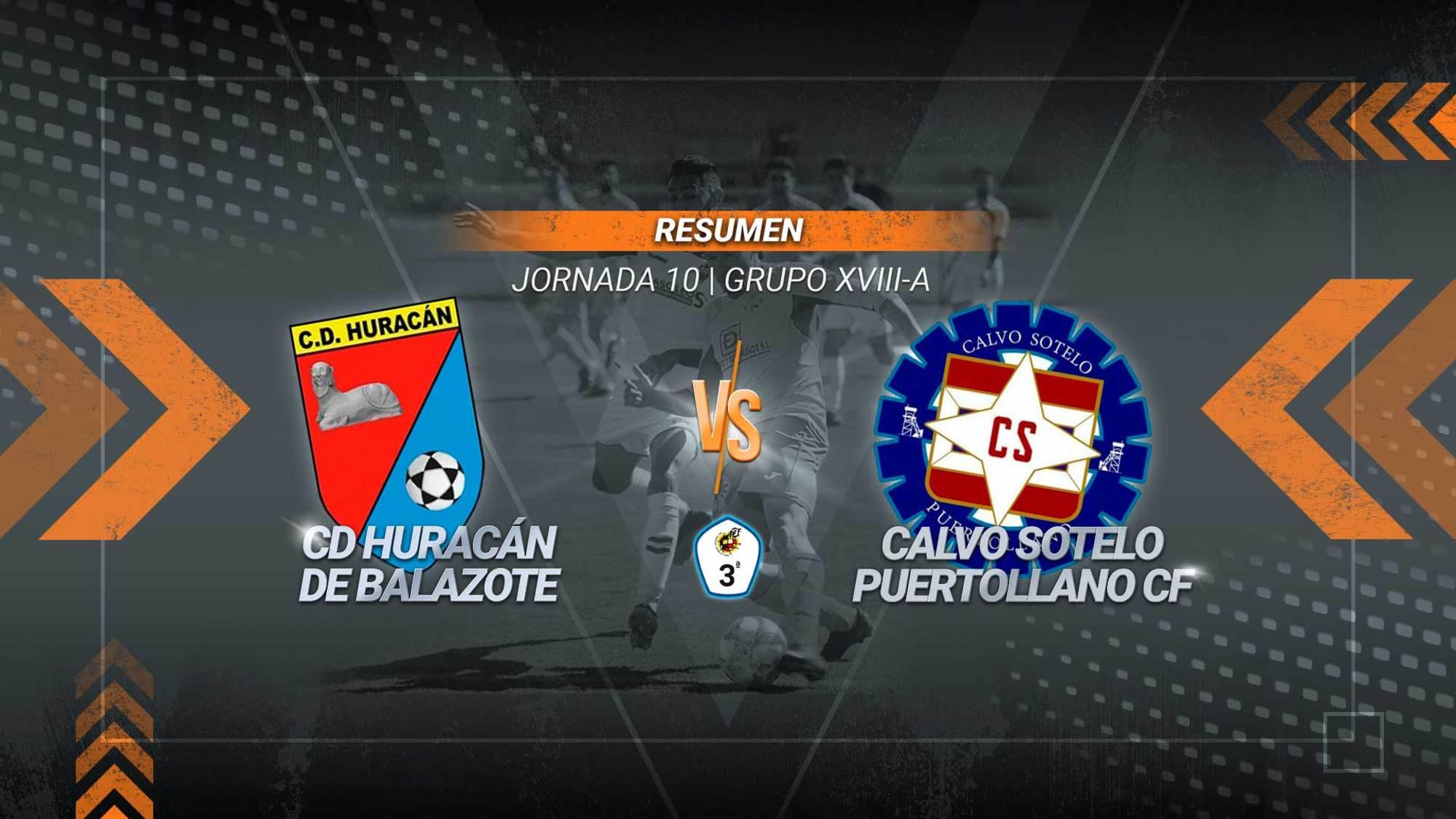 El Calvo Sotelo remonta en Balazote y suma un triunfo vital. Dos goles en tres minutos de Abraham e Iván Limón permiten a los industriales auparse hasta la sexta posición y alcanzar los 13 puntos. El Huracán, que se adelantó con un tanto de Biho, se queda con 15.
