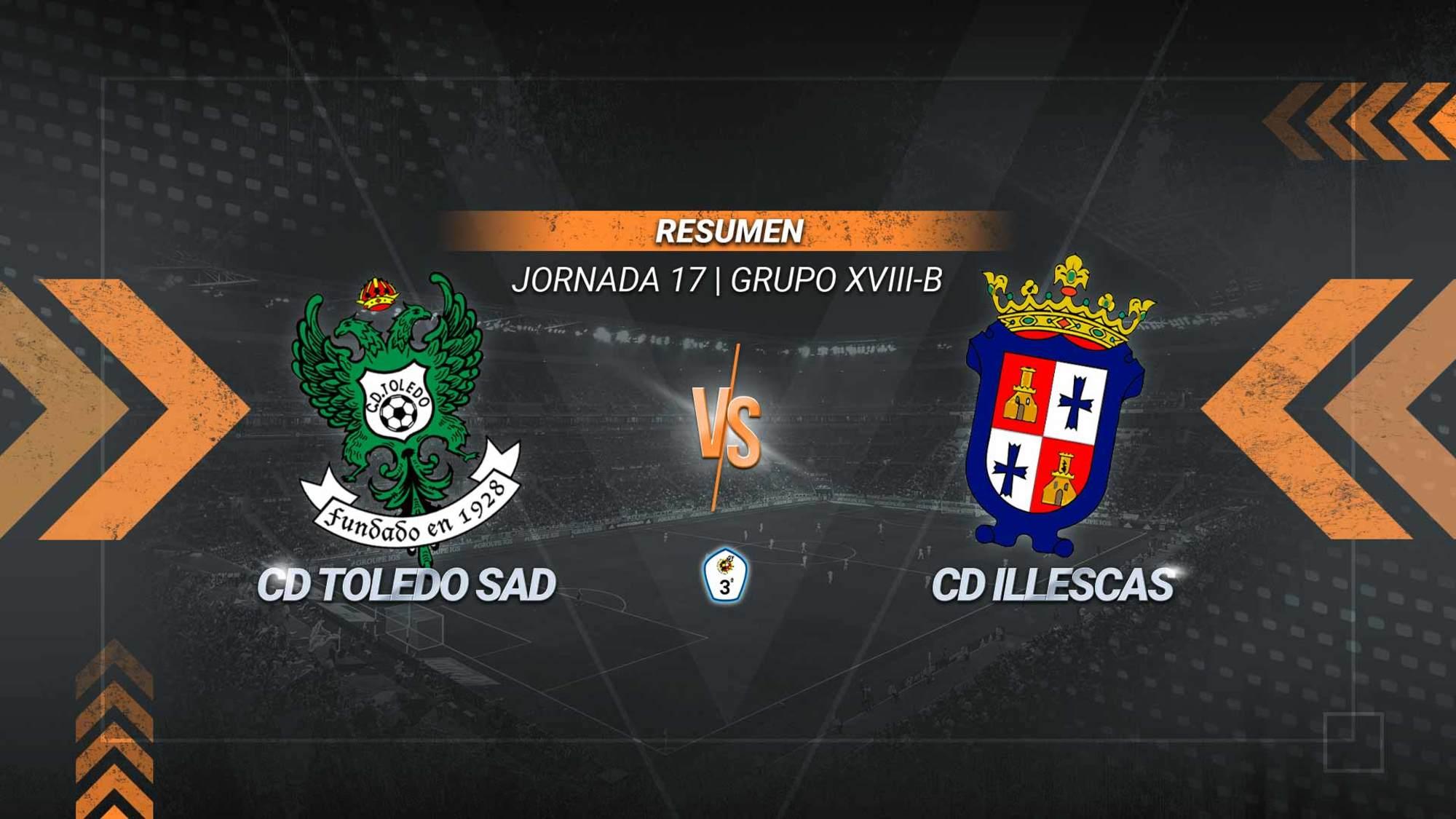 El Toledo suma el segundo triunfo seguido y se aúpa a la tercera posición. Los goles de Rodri, Sabaté y Pituli sirven a los de Diego Merino para colocarse en los puestos de play-off. El Illescas se mantiene en la zona baja con 15.