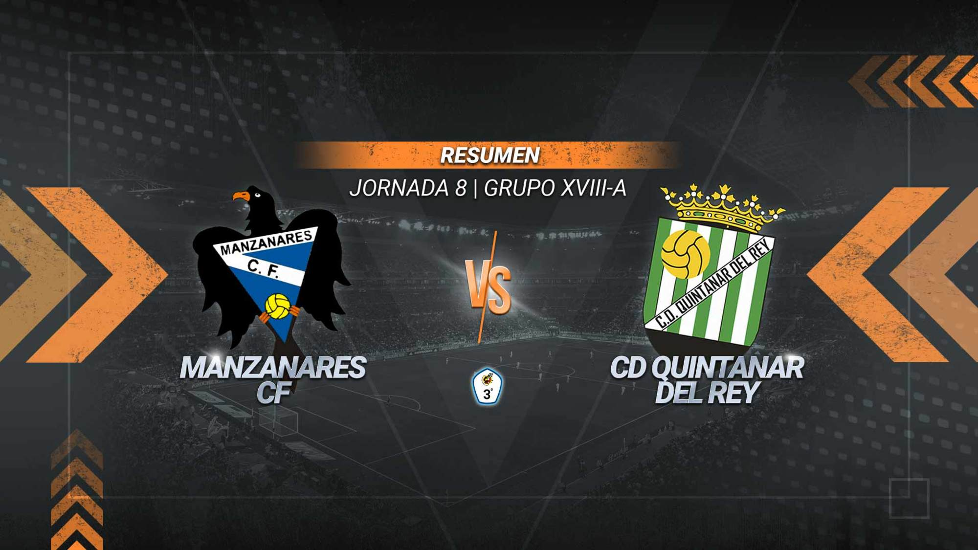 El Manzanares logra la primera victoria de la temporada. El conjunto de Bermúdez ganó gracias a los goles de Gascón, Daniel y Jesute. El Quintanar jugó con un futbolista menos desde el minuto 18 tras la expulsión de su portero Ferri.