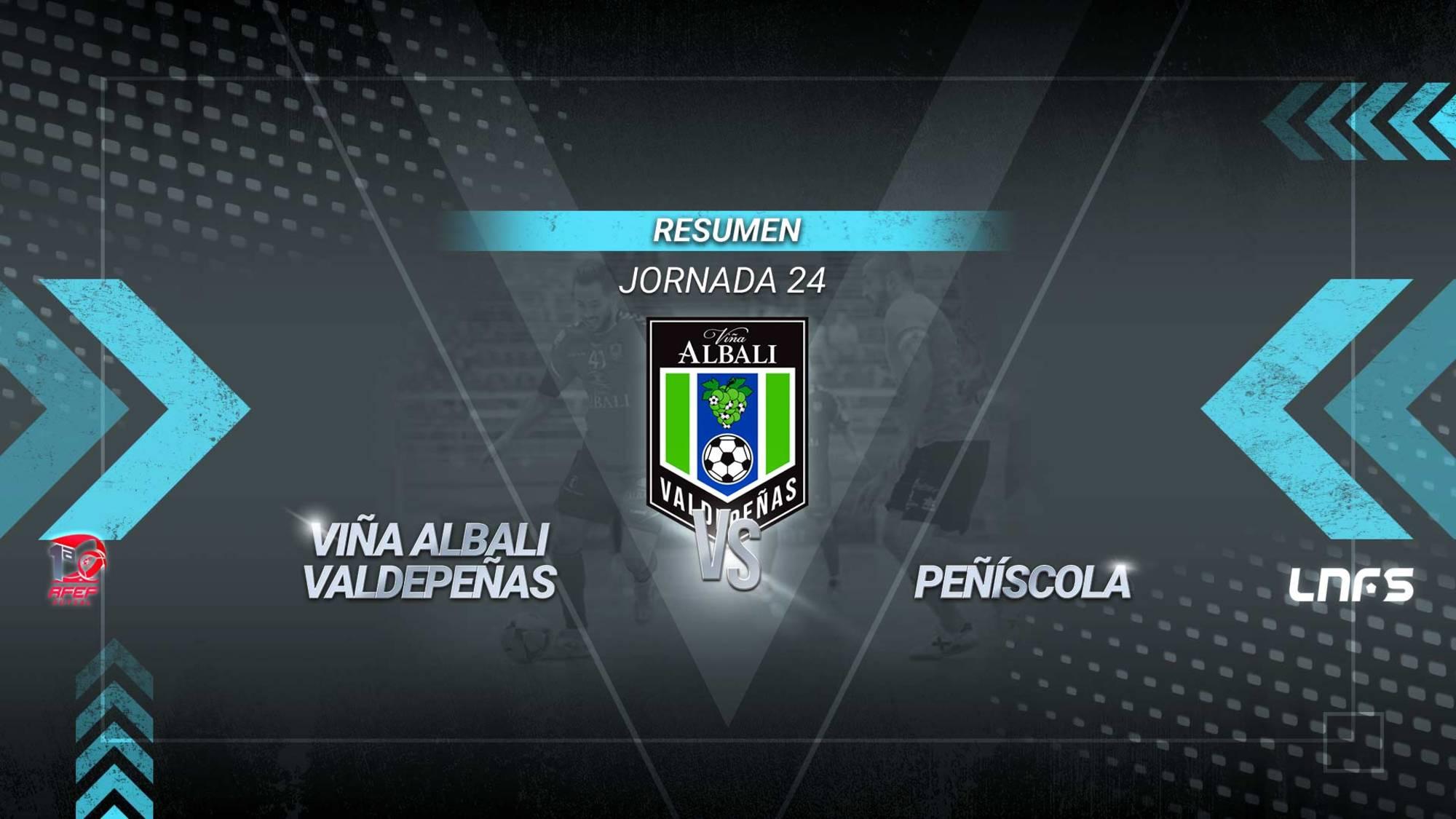 El Viña Albali Valdepeñas pasa por encima del Peñíscola y mantiene la séptima posición. Los dobletes de Chino y Cainan y los goles de Sergio González, Nano y Catela sirven a los de David Ramos para alcanzar los 36 puntos y afianzarse en las plazas de play-off.