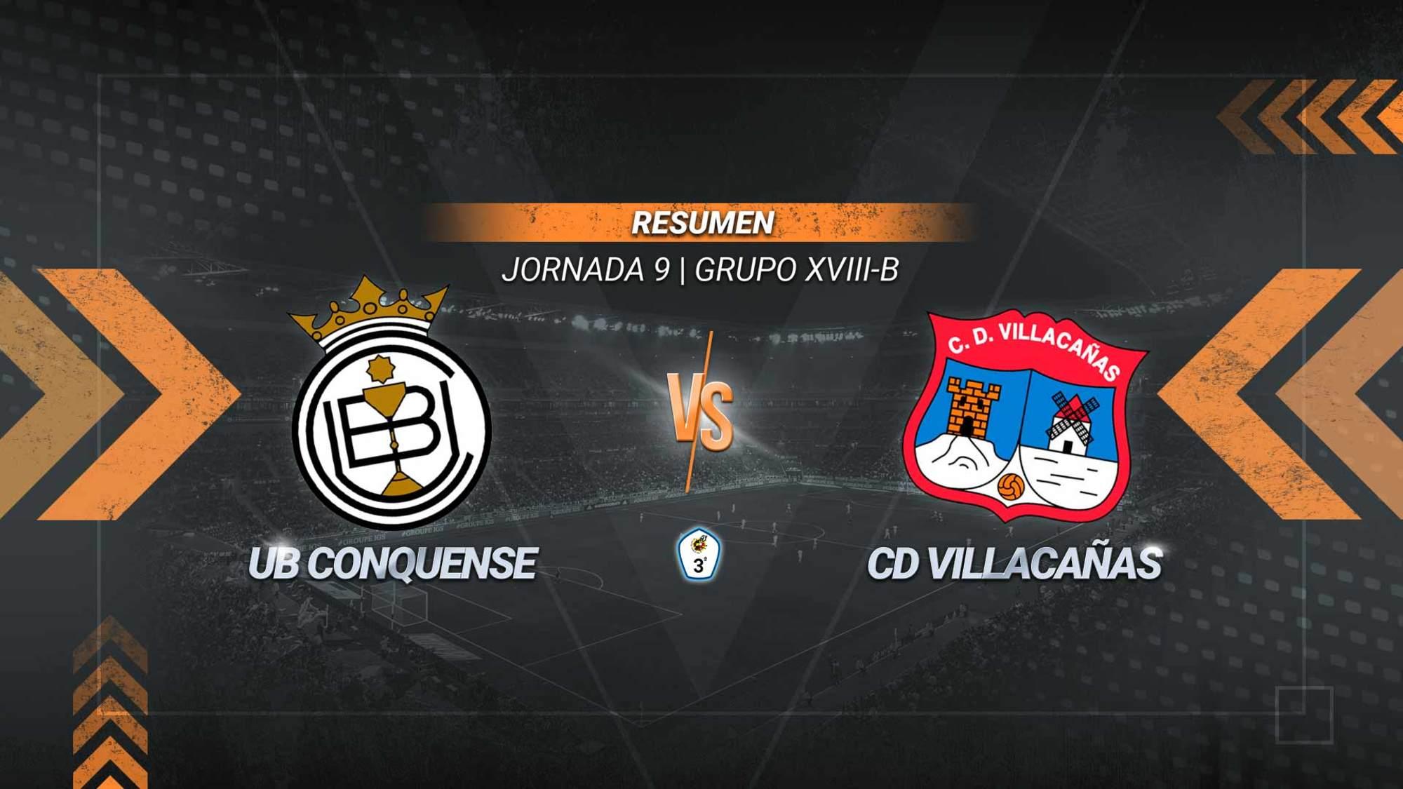 El Villacañas conquista La Fuensanta y suma su quinto triunfo consecutivo. Los goles de Álex González y Ibou en la segunda parte permiten a los villacañeros alcanzar los 17 puntos. El Conquense se queda con 12.