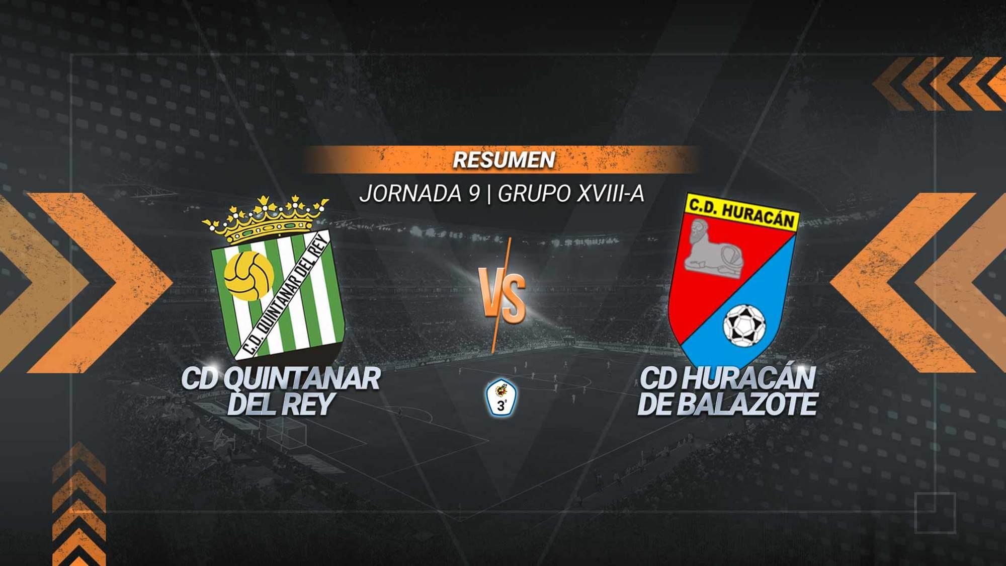 Un gol de Marcos y un doblete de Roque dan la victoria del Quintanar del Rey ante un Huracán de Balazote que, después de seis jornadas invicto, acumula dos derrotas consecutivas.