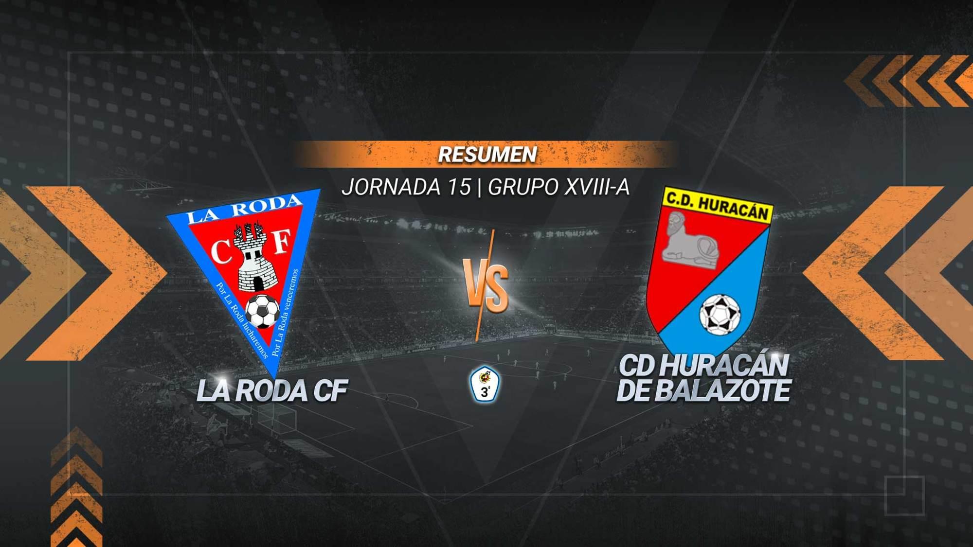 La Roda sigue intratable en casa y se reafirma en la tercera plaza. Un gol de José Garre supone la sexta victoria en seis partidos para los rodenses en el Municipal. El Huracán se queda sexto con 15.