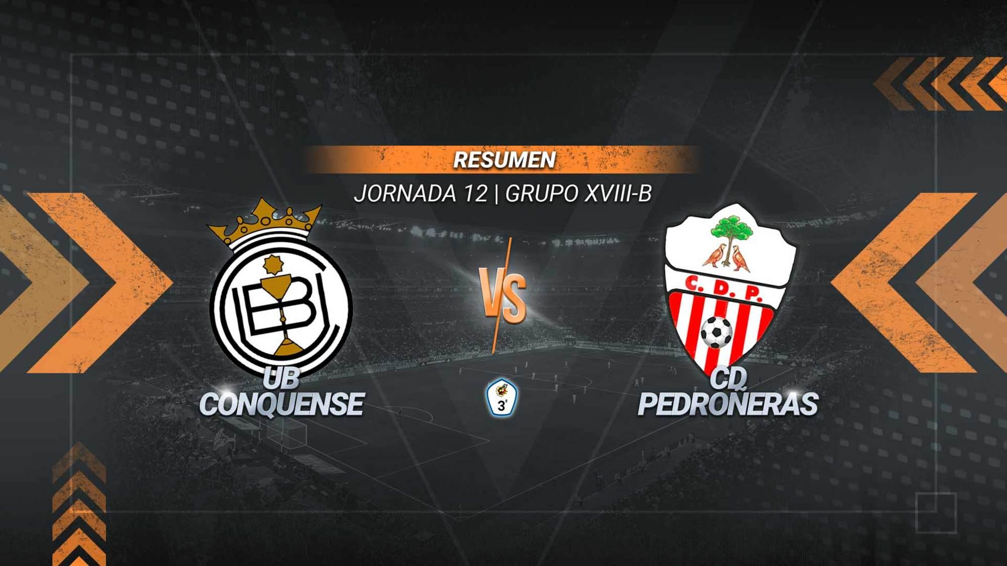 Conquense y Pedroñeras igualan en el derbi provincial. Los ajeros se adelantaron con un gol de Moya y los de la Fuensanta empataron con un tanto de Masa.