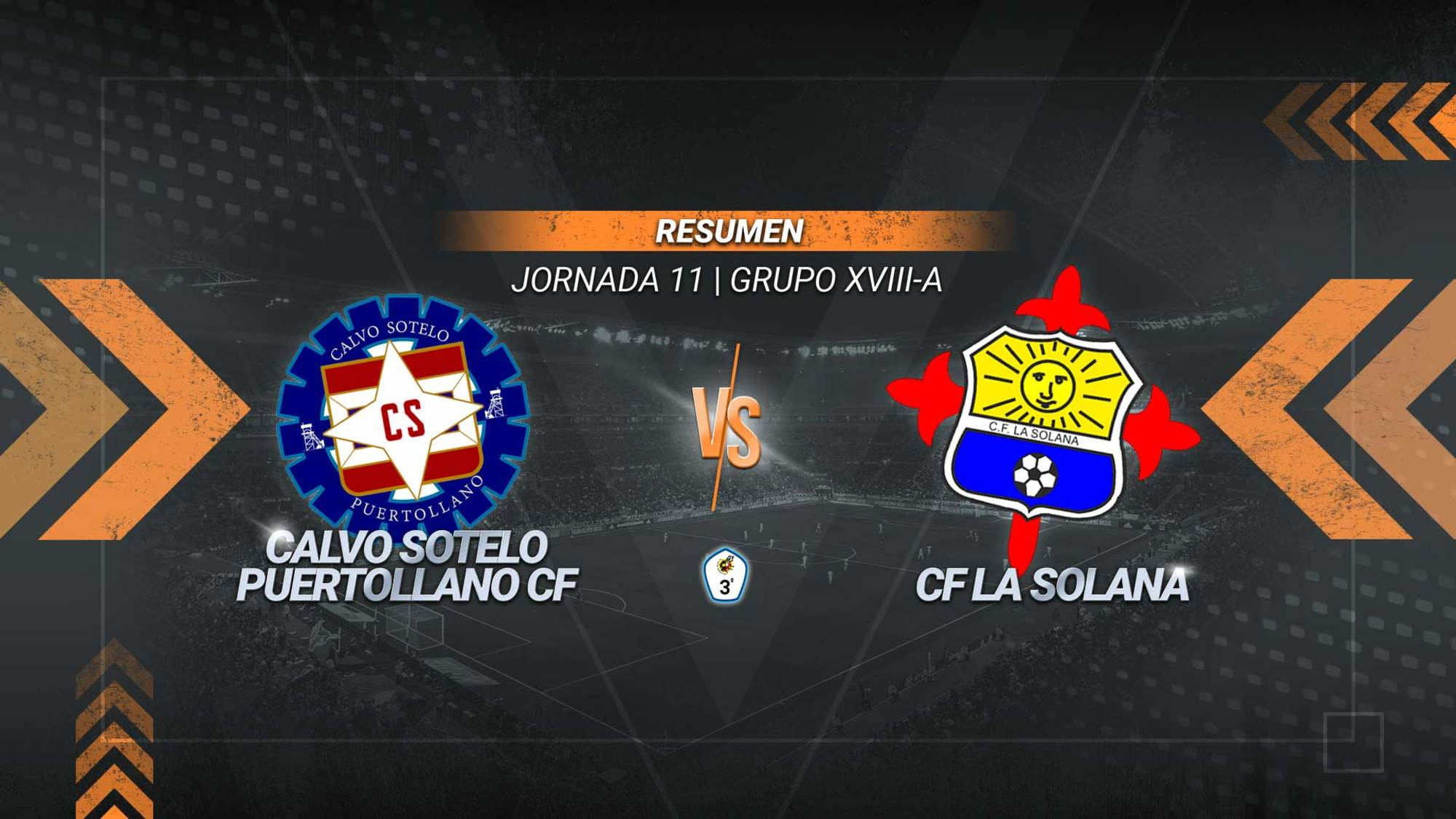 Un gol de Juanfri en el 90' da al Calvo Sotelo su tercer triunfo consecutivo. Los industriales se aúpan hasta la tercera posición y alcanzan los 19 puntos. La Solana se mantiene penúltimo con 9.