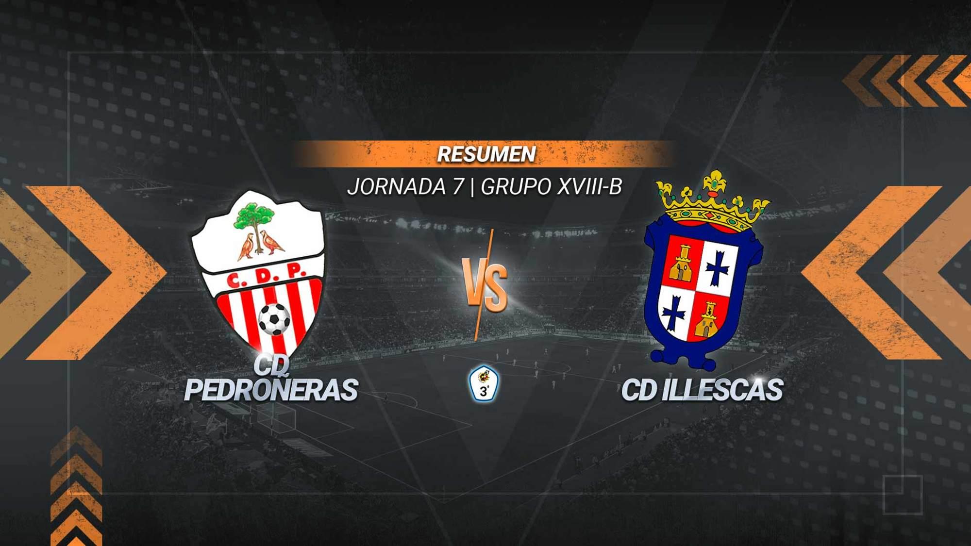 Un gol de Kike Espinosa de penalti proporciona al Pedroñeras la primera victoria de la temporada. El equipo ajero alcanza los cuatro puntos, mientras que el Illescas se mantiene con nueve.