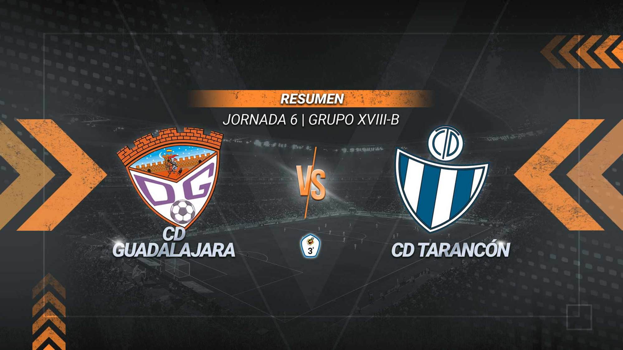 El Guadalajara se carga al líder Tarancón y suma la tercera victoria de la temporada. Los goles de Álex García y Success provocan la primera derrota de los taranconenses, que acabaron con un futbolista menos tras la expulsión de Mazzocchi. También fue expulsado el técnico visitante Jorge Cañete.