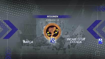 El Incarlopsa Cuenca de Lidio Jiménez no tuvo ninguna opción en su visita al intratable Barcelona, que ya había dejado sentenciado el choque en el intermedio con 13 goles de renta.