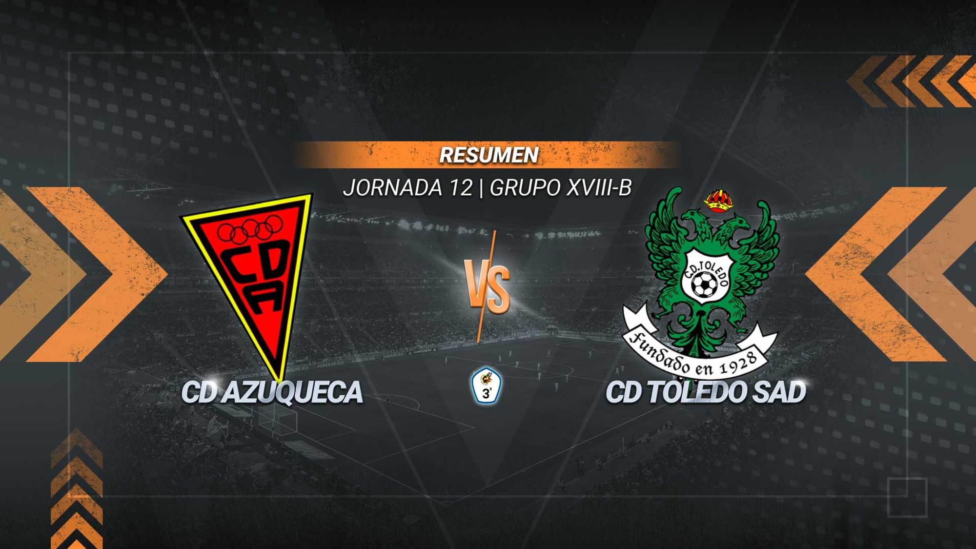 Azuqueca y Toledo se reparten los puntos en el duelo de los penaltis. Rubén Moreno anotó los dos goles de los toledanos desde los once metros. Míchel marcó una pena máxima y una falta para los azudenses. El Toledo se mantiene tercero con 20 puntos. El Azuqueca es sexto con 18.