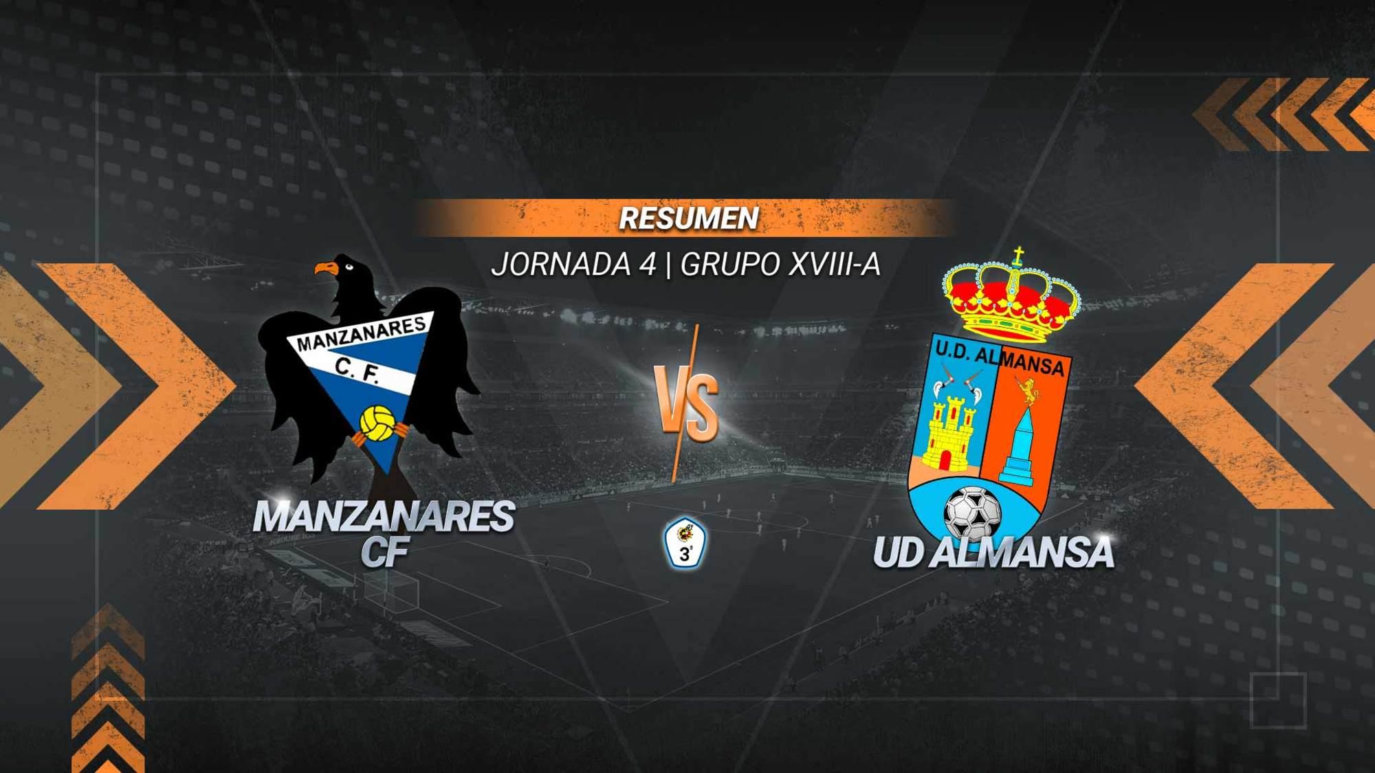El Almansa conquista el José Camacho y suma la segunda victoria de la temporada. El gol de Paco Septién provoca además la cuarta derrota del Manzanares.