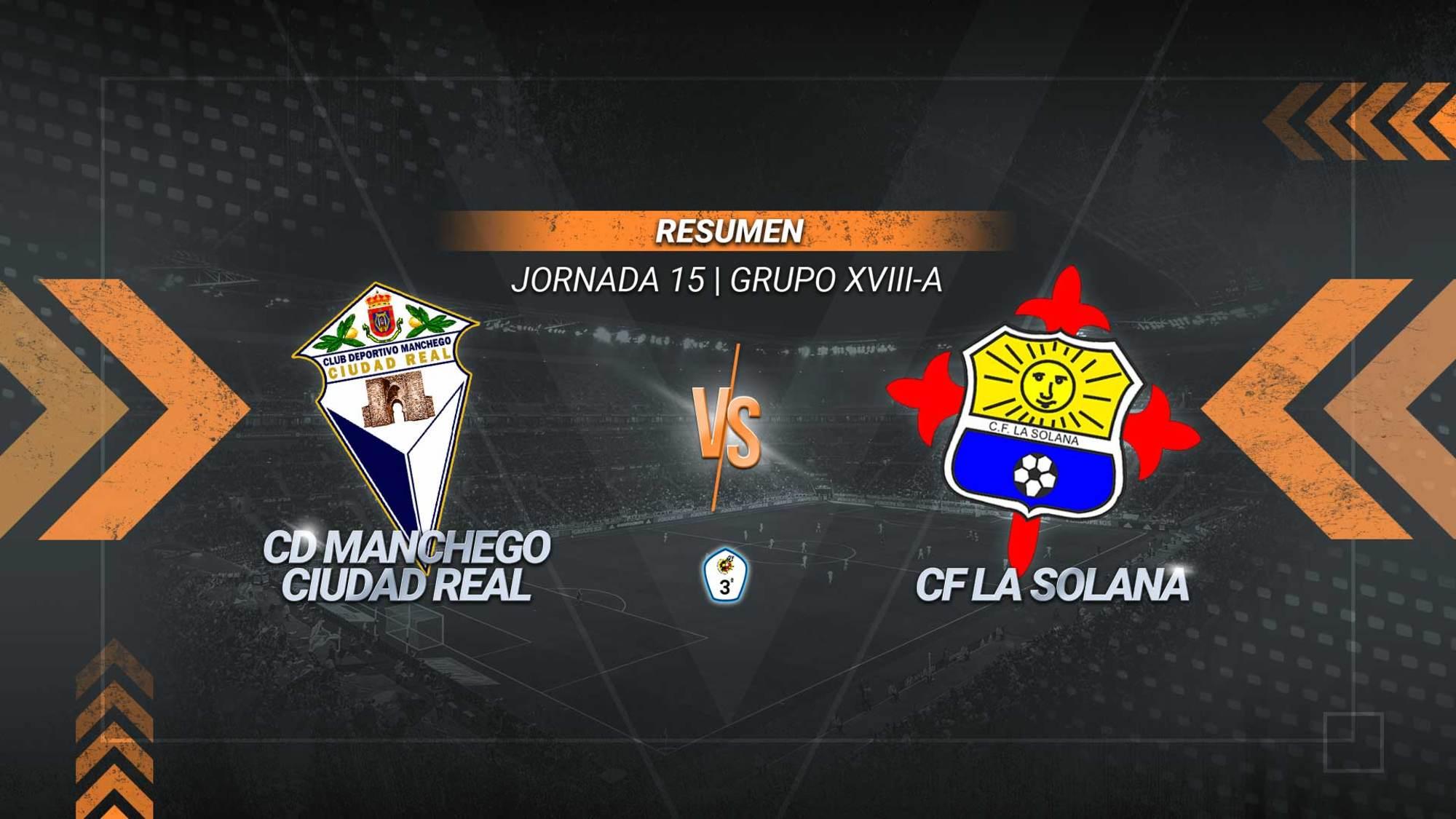La Solana da la campanada y evita el liderato del Manchego. Un gol de Ángel Luis sirve a los solaneros para ser novenos y sumar 12 puntos. Los mancheguistas se mantienen segundos con 26.