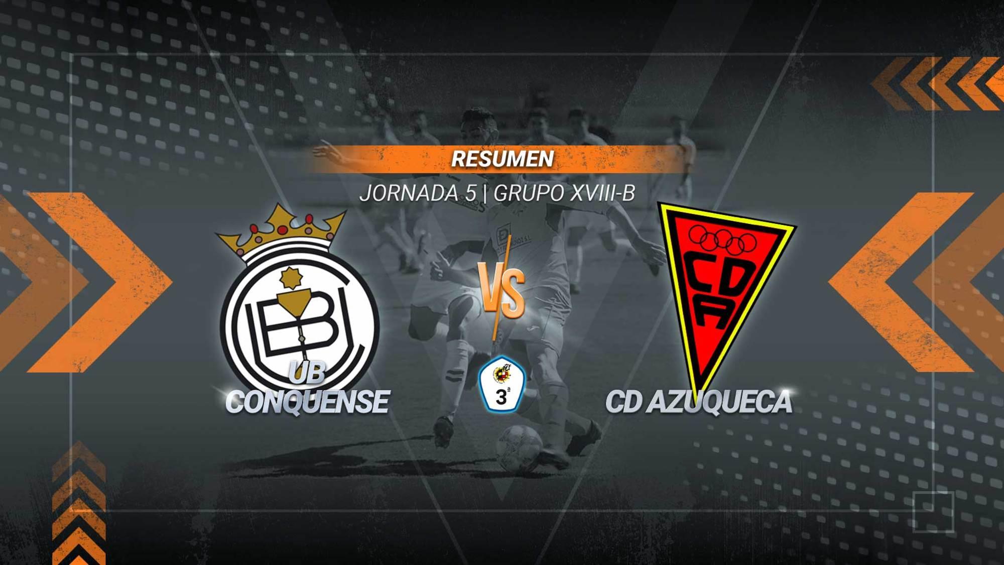 Goleada del Azuqueca en la Fuensanta para sumar su tercera victoria de la temporada. Por su parte, el Conquense alarga su mal momento con esta tercera derrota consecutiva.