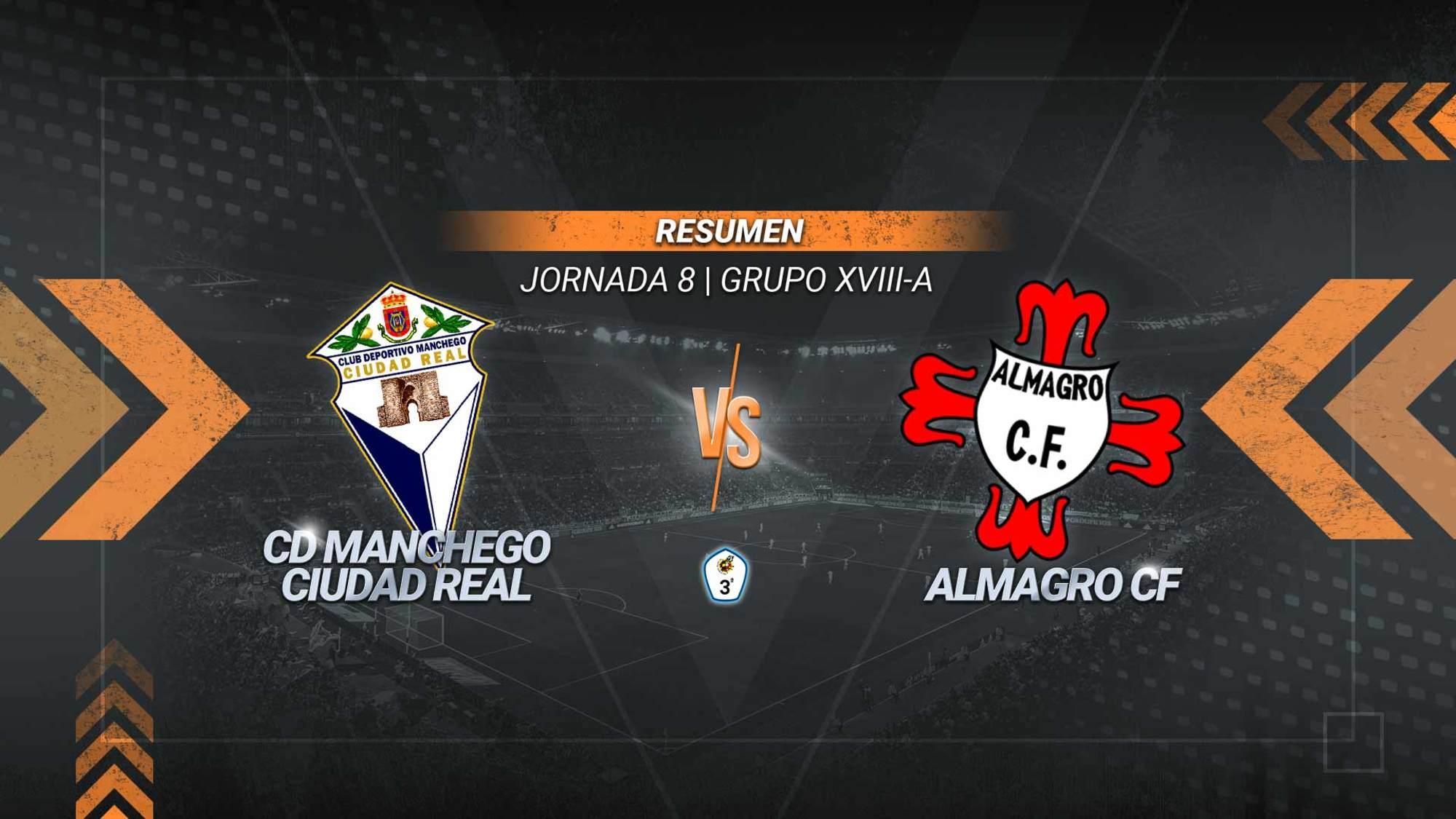 El Manchego estrena su casillero de victorias con una goleada en su campo ante el Almagro. Gregori, Christian y Erik Polanco anotaron los tantos del partido.