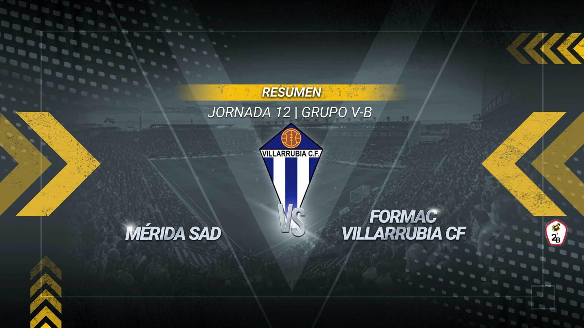 El Villarrubia se lleva un punto de Mérida y suma su quinto empate consecutivo. Los de Javi Sánchez se quedan en la octava posición con 16 puntos y recibirán el próximo domingo al Villarrobledo en el derbi castellano-manchego.