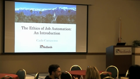 Thumbnail for entry The Ethics and Economics of Job Automation Prospects and Challenges 10/9/17