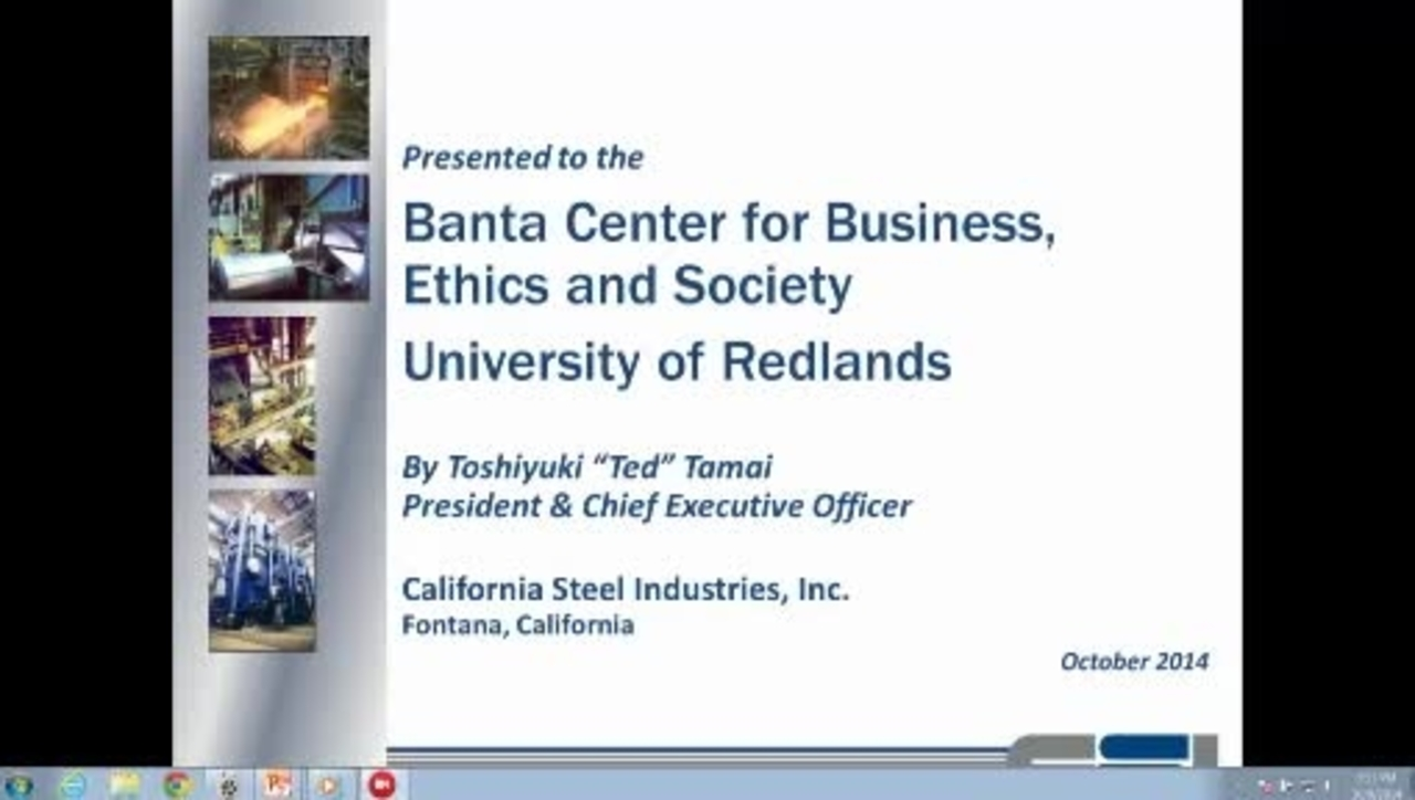 California Steel Industries and the 2008 Economic Crisis 10/9/14
