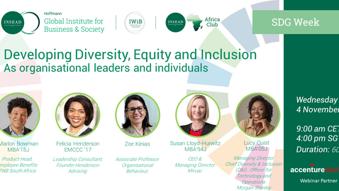 Thumbnail for entry Developing Diversity, Equity and Inclusion, as organizational leaders and as individuals