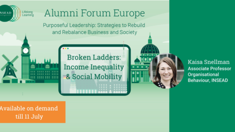 Thumbnail for entry Broken Ladders: Income Inequality and Social Mobility