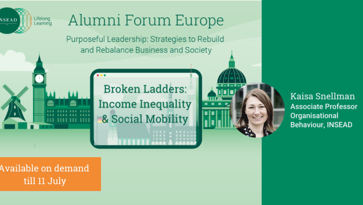 Broken Ladders: Income Inequality and Social Mobility