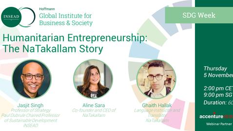 Thumbnail for entry Humanitarian Entrepreneurship: The NaTakallam Story