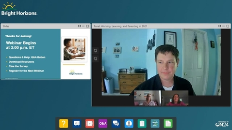 Thumbnail for entry May Family Webinar_2021_Working Learning and Parenting in 2021